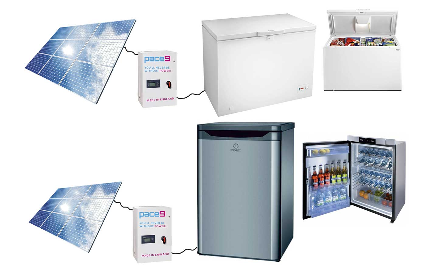 pace9 - Solar Powered Fridge - Freezer